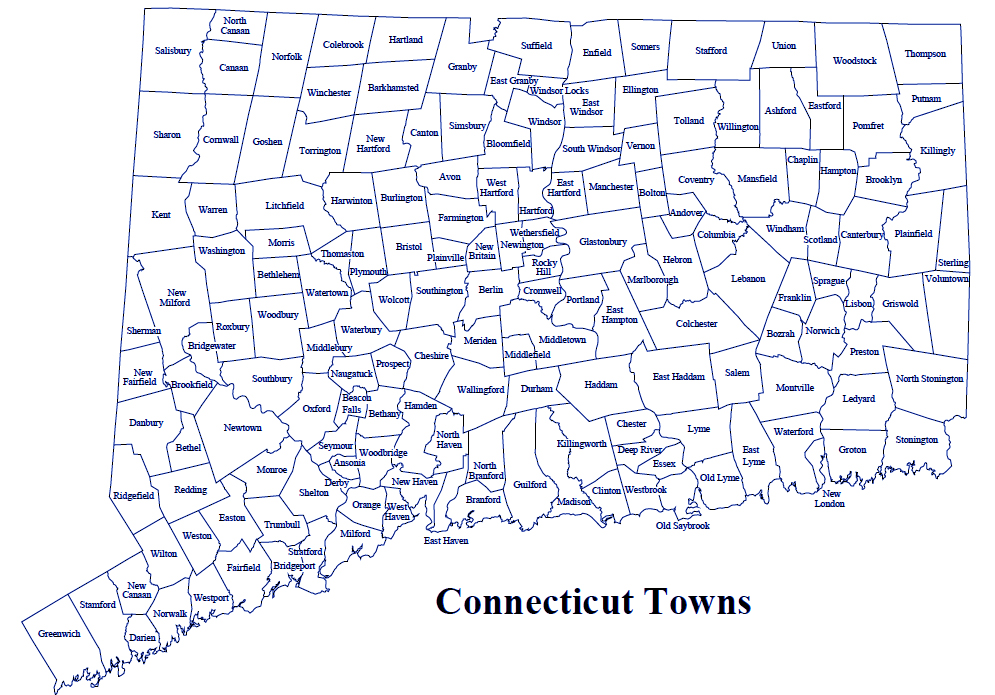 Map Of Towns In Ct Amazing Map Of Ct Towns Images   Printable Map   New  Map Of Towns In Ct